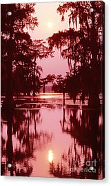 Acrylic Print featuring the photograph Sunset On The Bayou Atchafalaya Basin Louisiana by Dave Welling