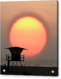 Sunset On The Beach Acrylic Print by Ben and Raisa Gertsberg