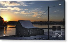 Acrylic Print featuring the photograph Sunset On The Bog by Gina Cormier
