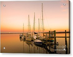 Sunset On The Dock Acrylic Print by Southern Photo