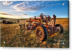 Sunset On The Farm In North Carolina I Acrylic Print by Dan Carmichael