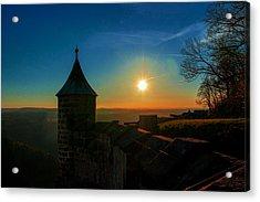 Sunset On The Fortress Koenigstein Acrylic Print