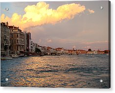 Sunset On The Grand Canal Acrylic Print