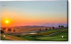 Sunset On The Greens Acrylic Print