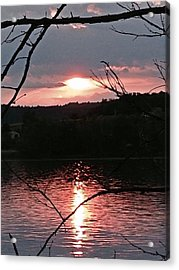 Sunset On The Hudson Acrylic Print