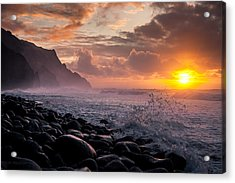 Sunset On The Kalalau Acrylic Print