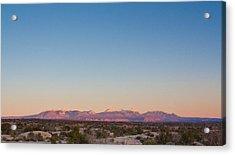 Sunset On The La Sal Mountains Acrylic Print
