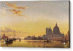 Sunset On The Lagoon Of Venice Acrylic Print