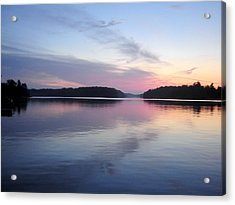 Sunset On The Lake 2 Acrylic Print by Gaetano Salerno