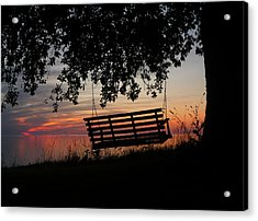 Sunset On The Lake Acrylic Print by Heather Allen
