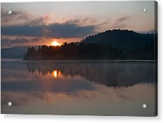 Acrylic Print featuring the photograph Sunset On The Lake by Marek Poplawski