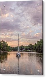 Sunset On The Magothy River Acrylic Print