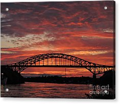Sunset On The Piscataqua         Acrylic Print