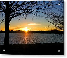 Sunset On The Potomac Acrylic Print