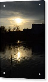 Sunset On The River Acrylic Print by Samantha Morris