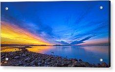 Sunset On The San Francisco Peninsula Acrylic Print