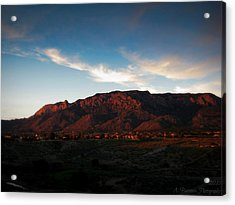 Sunset On The Sandias Acrylic Print