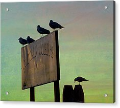 Sunset On The Sign Acrylic Print