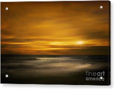 Sunset On The Surf Acrylic Print by Tom York Images