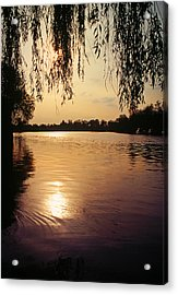 Sunset On The Thames Acrylic Print by John Topman
