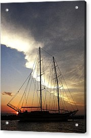 Sunset On The Turkish Gulet Acrylic Print