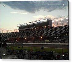 Sunset On Top Of Daytona Acrylic Print by Julie Wilcox
