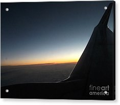 Sunset On Top Of The Clouds Acrylic Print