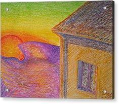 Sunset On Wavy Mountains Acrylic Print