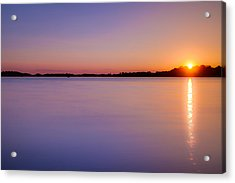 Sunset On White Bear Lake Acrylic Print