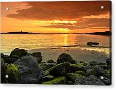 Sunset Over Aran Acrylic Print