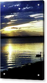 Sunset Over Aurora Acrylic Print
