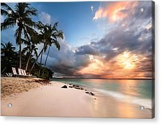 Acrylic Print featuring the photograph Sunset Over Bacardi Island by Mihai Andritoiu