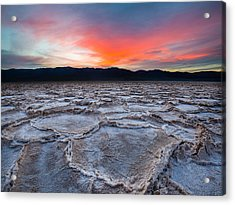 Sunset Over Badwater Acrylic Print