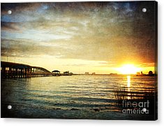 Sunset Over Biloxi Bay Acrylic Print by Joan McCool