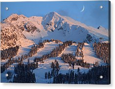 Sunset Over Blackcomb Mountain Acrylic Print by Pierre Leclerc Photography