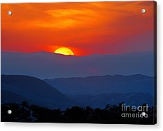 Sunset Over California Acrylic Print