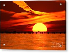 Sunset Over Causeway Acrylic Print
