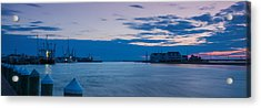 Sunset Over Chincoteague Inlet Acrylic Print