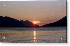 Sunset Over Cook Inlet Alaska Acrylic Print