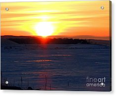 Sunset Over Devils Lake Acrylic Print