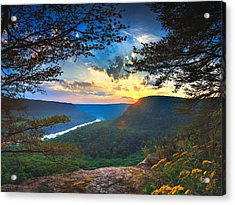 Sunset Over Edwards Point Acrylic Print by Steven Llorca