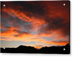Sunset Over Estes Park Acrylic Print