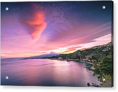 Sunset Over Giardini Naxos Acrylic Print