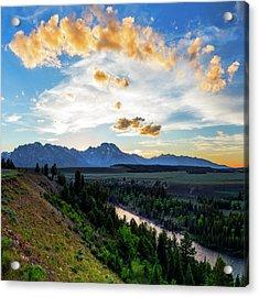 Sunset Over Grand Teton National Park Acrylic Print