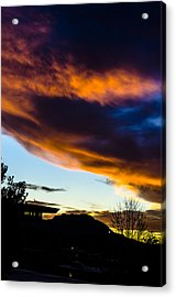 Sunset Over Granite Mountain And Ac1 Acrylic Print