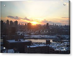 Sunset Over Harlem Acrylic Print by Robert Daniels