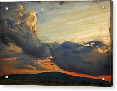 Sunset Over Holy Cross Mountains Acrylic Print by Anna Gora