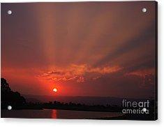 Sunset Over Hope Island 2 Acrylic Print
