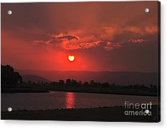 Sunset Over Hope Island Acrylic Print