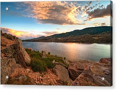 Sunset Over Horsetooth Acrylic Print